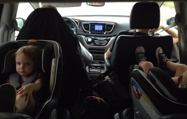 In the van